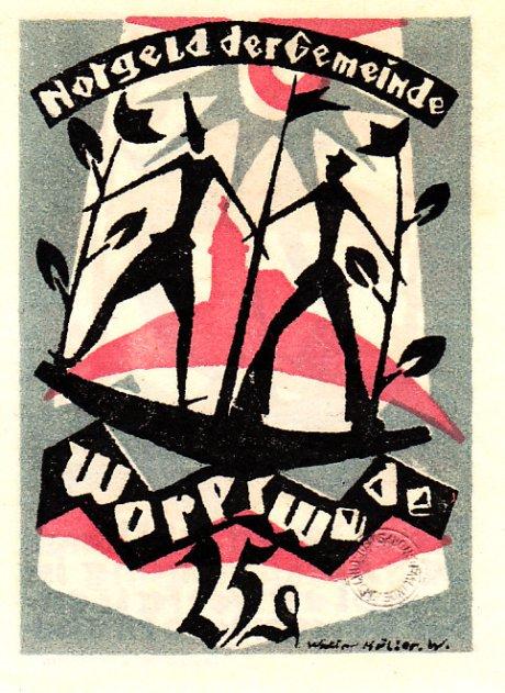 Walter Müller, Notgeld für die Gemeinde Worpswede, ca. 1922; Quelle: flickr