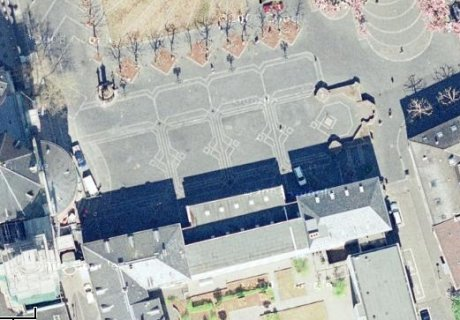 Luftbild Liebfrauenplatz, Mainz; Quelle: googlemaps