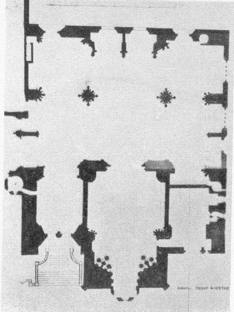 Grundriss der Liebfrauenkirche, Mainz, aus: August Schuchert, Die Mainzer Kirchen und Kapellen (Mainz 1931); Quelle: wikipedia
