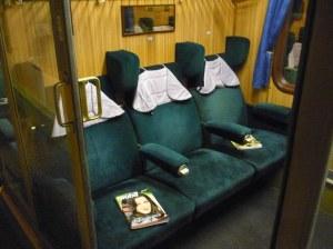Schön und vor allem auch bequem waren auch die Sitze mit den großen Ohren...